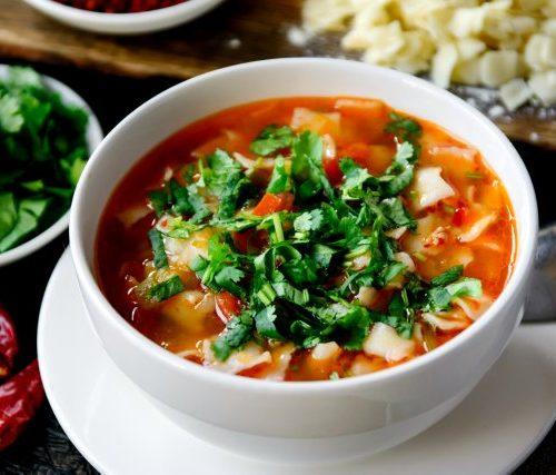 Манпар (восточный суп с клёцками)