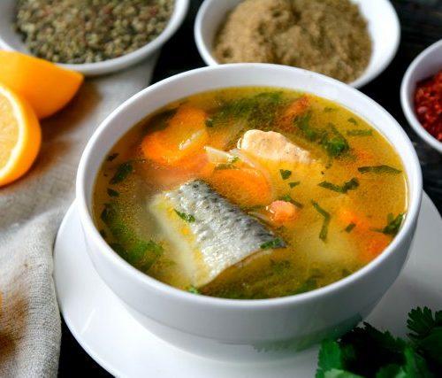 Рыбный Итальянский Суп (сёмга,форель,судак с зеленью)