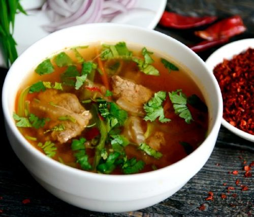 Сан Тан Ру (мясо,фунчёза,пекинская капуста)
