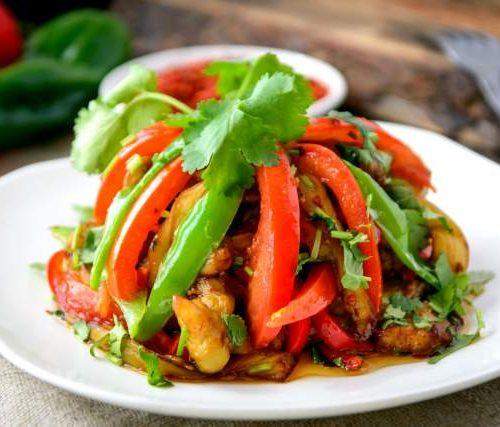 Чай Зя Сяй (баклажаны с перцем и овощами)