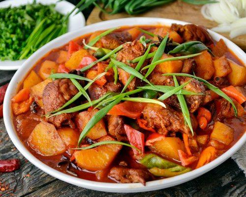 Дапан Джи (курица,картошка,хаджо,корица,специи)